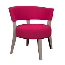 Estate Linen Fuchsia Crescent Chair