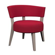 Estate Linen Red Crescent Chair