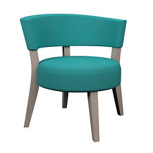 Estate Linen Turquoise Crescent Chair
