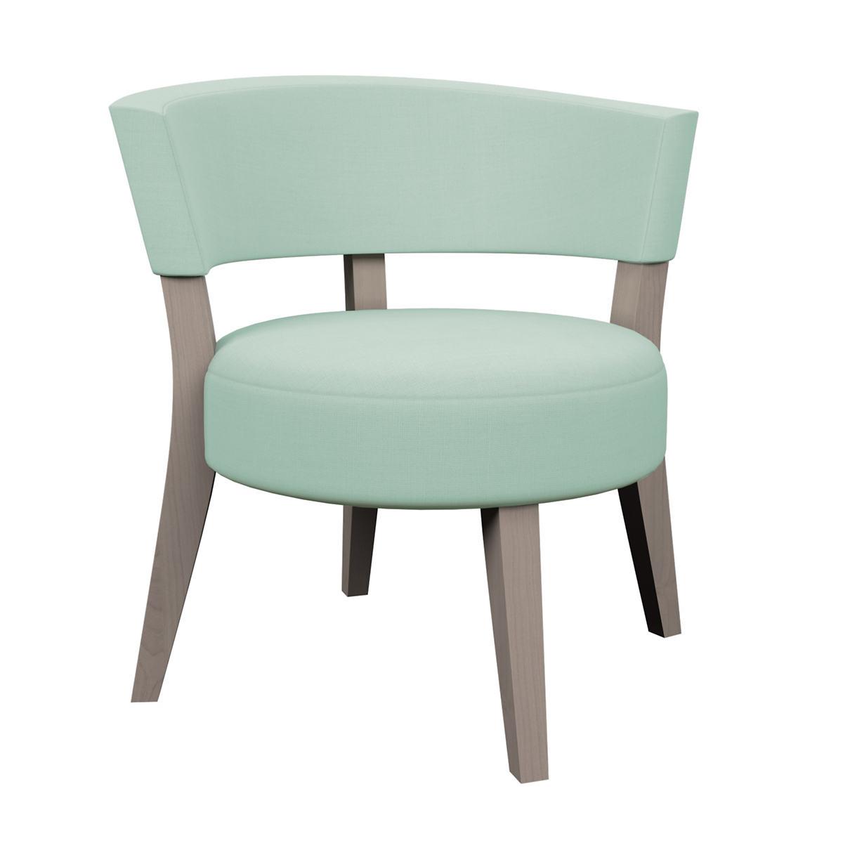 Estate Linen Powder Blue Crescent Chair