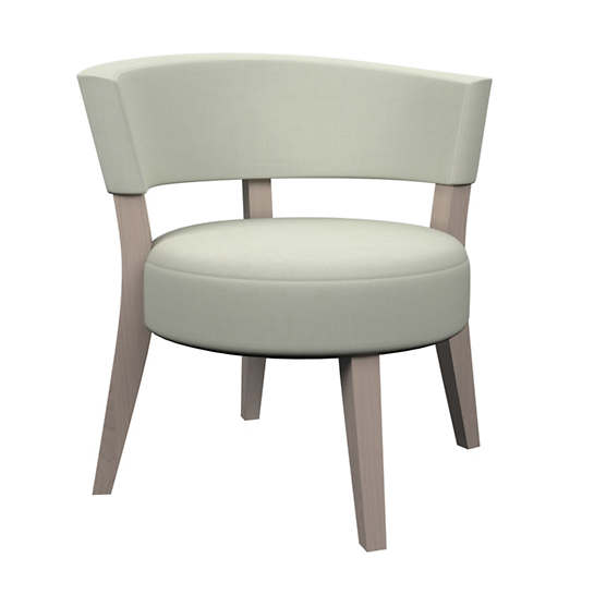 Nubby Mist Crescent Chair
