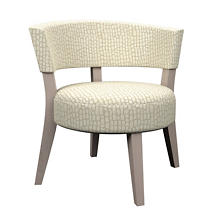 Pebble Ivory Crescent Chair