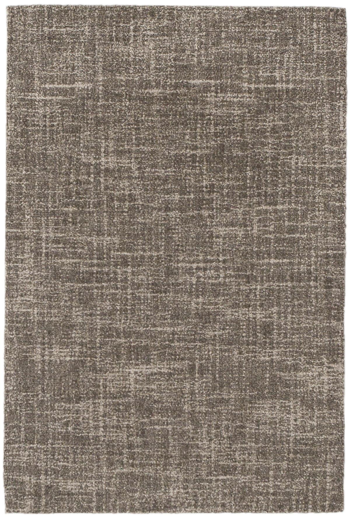 Crosshatch Charcoal Micro Hooked Wool Rug