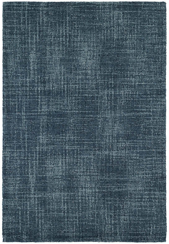 Crosshatch Denim Micro Hooked Wool Rug