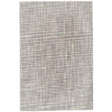 Crosshatch Dove Grey Wool Micro Hooked Rug