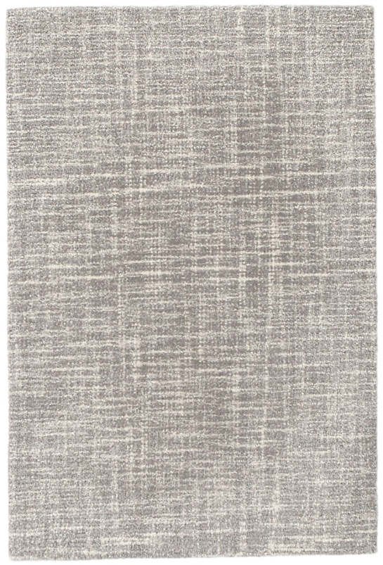 Crosshatch Dove Grey Micro Hooked Wool Rug