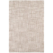 Crosshatch Ivory Micro Hooked Wool Rug