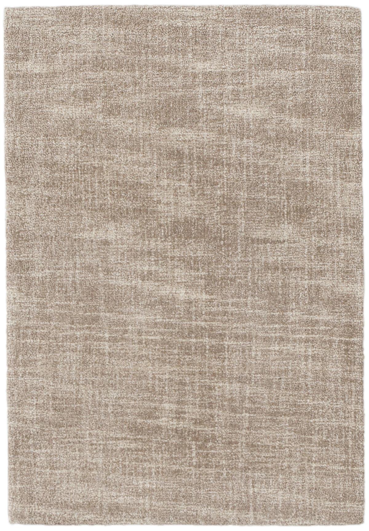 Crosshatch Sand Wool Micro Hooked Rug