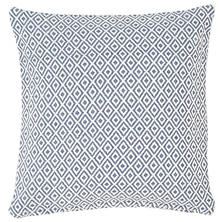 Crystal Denim/White Indoor/Outdoor Pillow