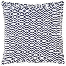 Crystal Navy/White Indoor/Outdoor Pillow