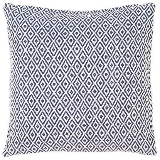 Crystal Navy/White Indoor/Outdoor Pillow | Fresh American