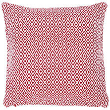 Crystal Red/White Indoor/Outdoor Pillow