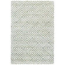 Cut Diamond Tufted Wool/Viscose Rug