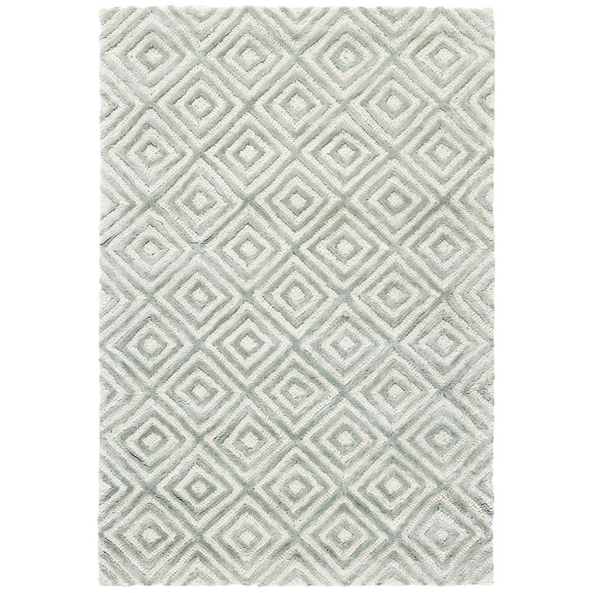 Cut Diamond Ocean Tufted Wool Viscose Rug Dash Amp Albert