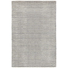 Cut Stripe Grey Hand Knotted Viscose/Wool Rug