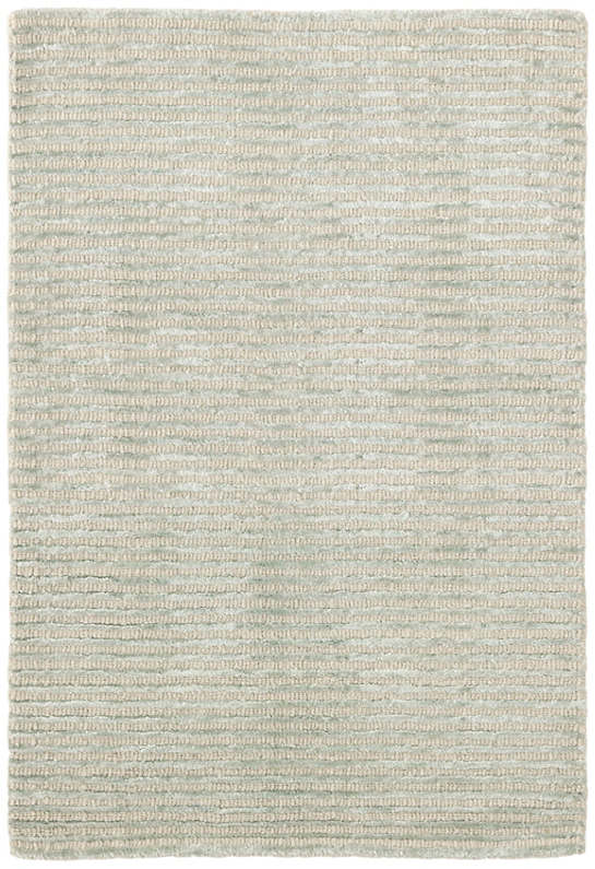 Cut Stripe Ocean Hand Knotted Viscose/Wool Rug