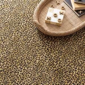 Cheetah Tan Woven Custom Rug