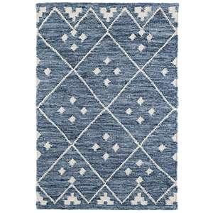 Shop Kota Indigo Woven Wool Rug