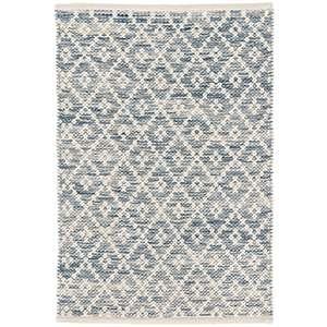 Shop Melange Diamond Blue Woven Cotton Rug