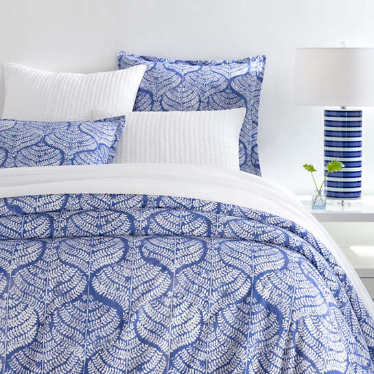 Flora Blue Duvet Cover