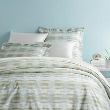 Carolina Percale Mist Duvet Cover