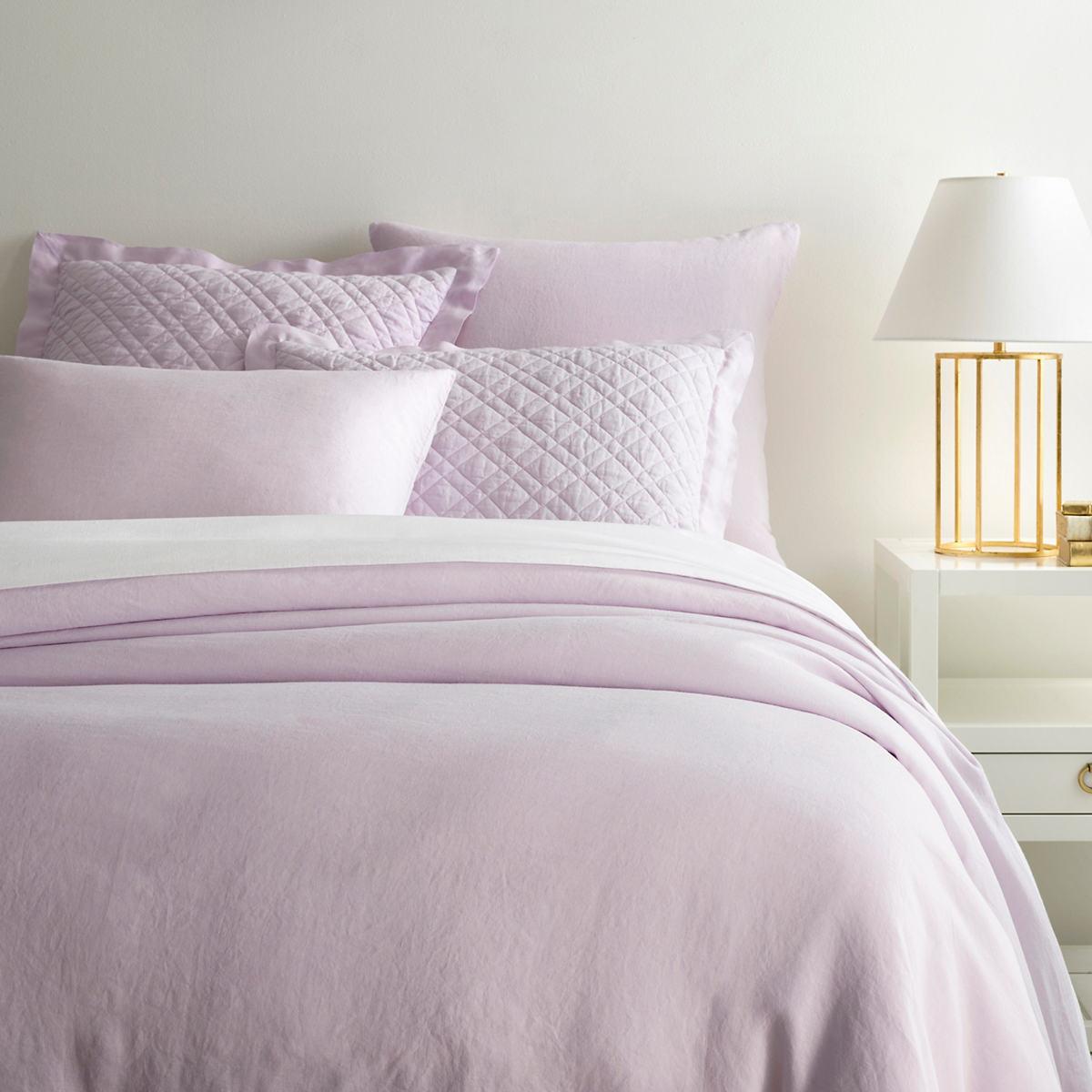 Lush Linen Pale Lilac Duvet Cover
