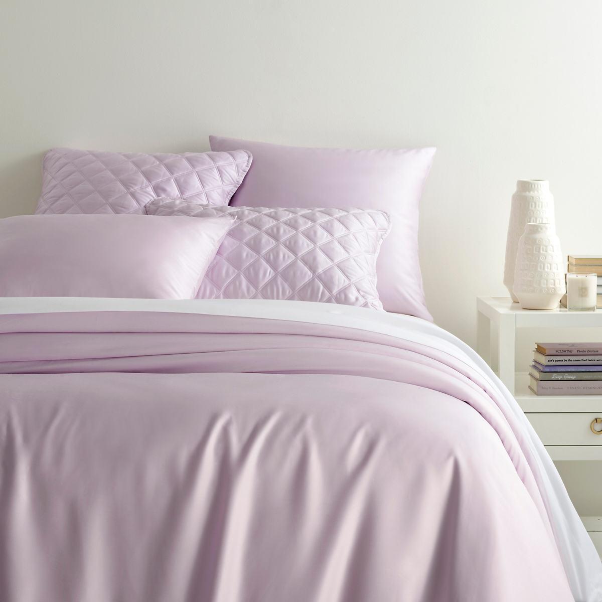 Silken Solid Pale Lilac Duvet Cover
