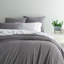 Slub Jersey Knit Grey Duvet Cover