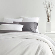 Slub Jersey Knit White Duvet Cover