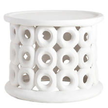Dagen White Side Table