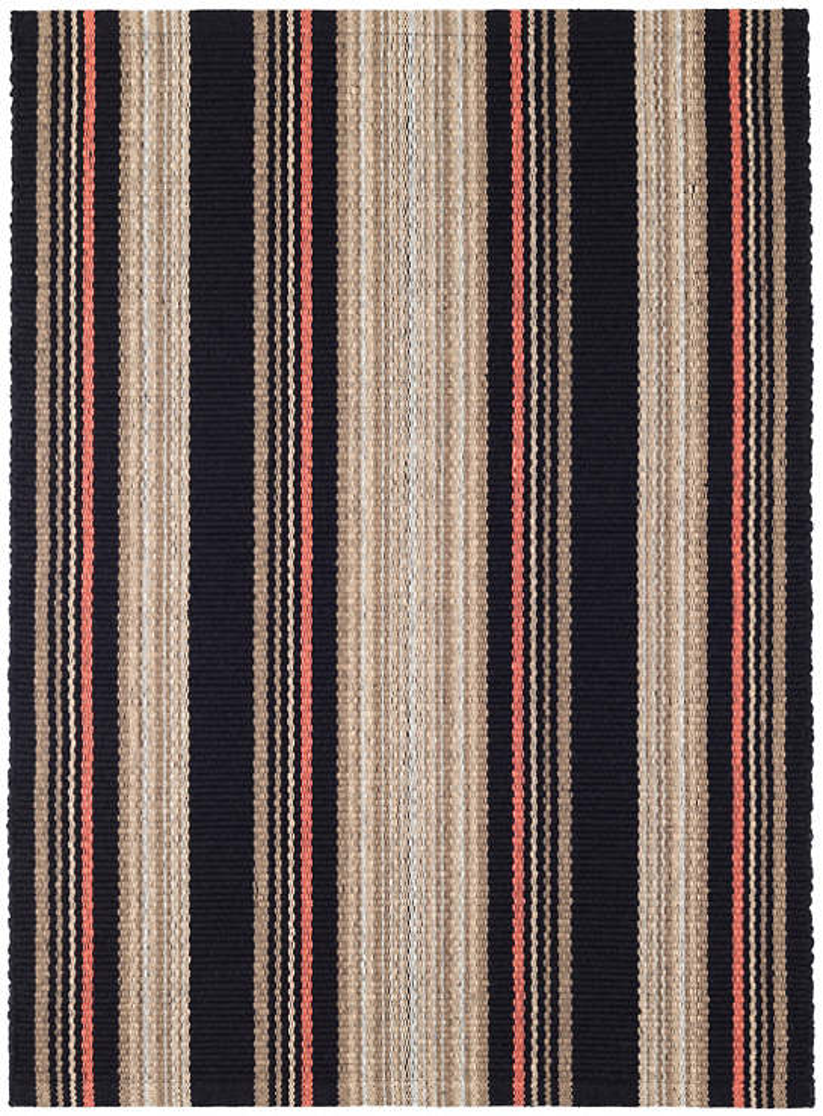 Dakota Stripe Woven Cotton Rug