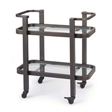 Dallas Oil Rubbed Bronze Bar Cart