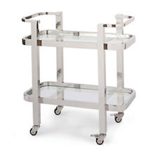 Dallas Polished Nickel Bar Cart