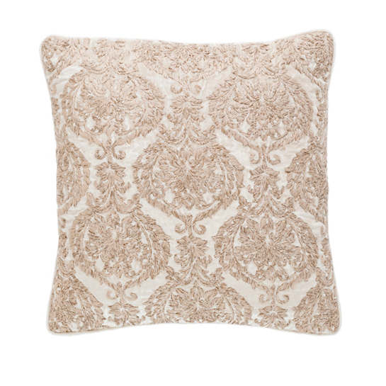 Damask Velvet Embroidered Sand Decorative Pillow