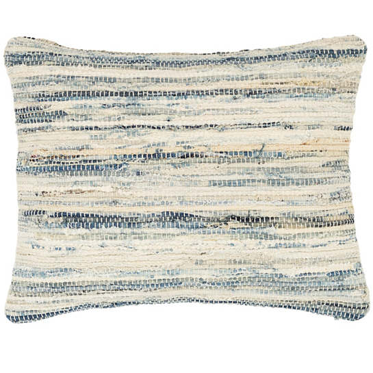 Denim Rag Woven Pillow