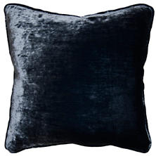 Shimmer Velvet Denim Decorative Pillow