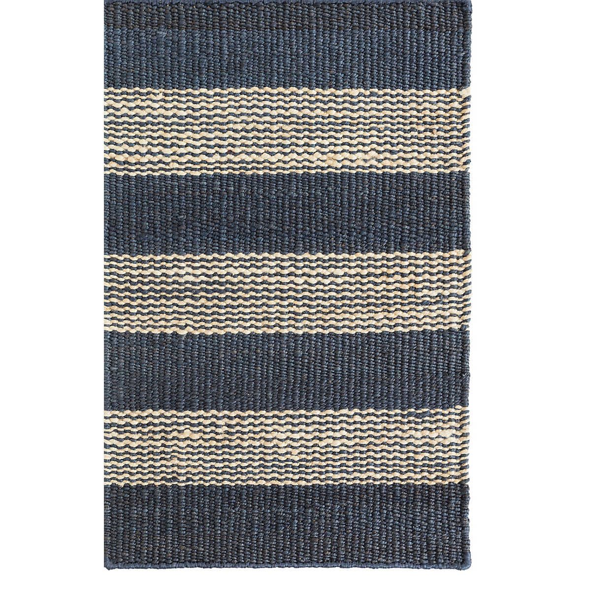 Denim Ticking Woven Jute Rug Dash Amp Albert