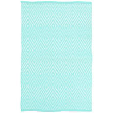 Diamond Aqua/White Indoor/Outdoor Rug