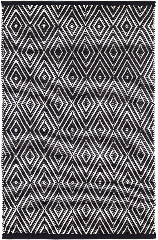 Diamond Black/Ivory Indoor/Outdoor Rug