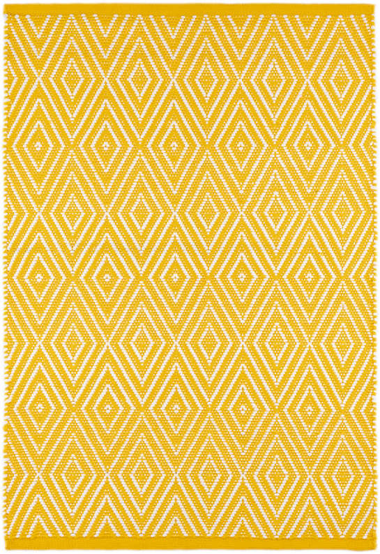 Diamond Canary/White Indoor/Outdoor Rug