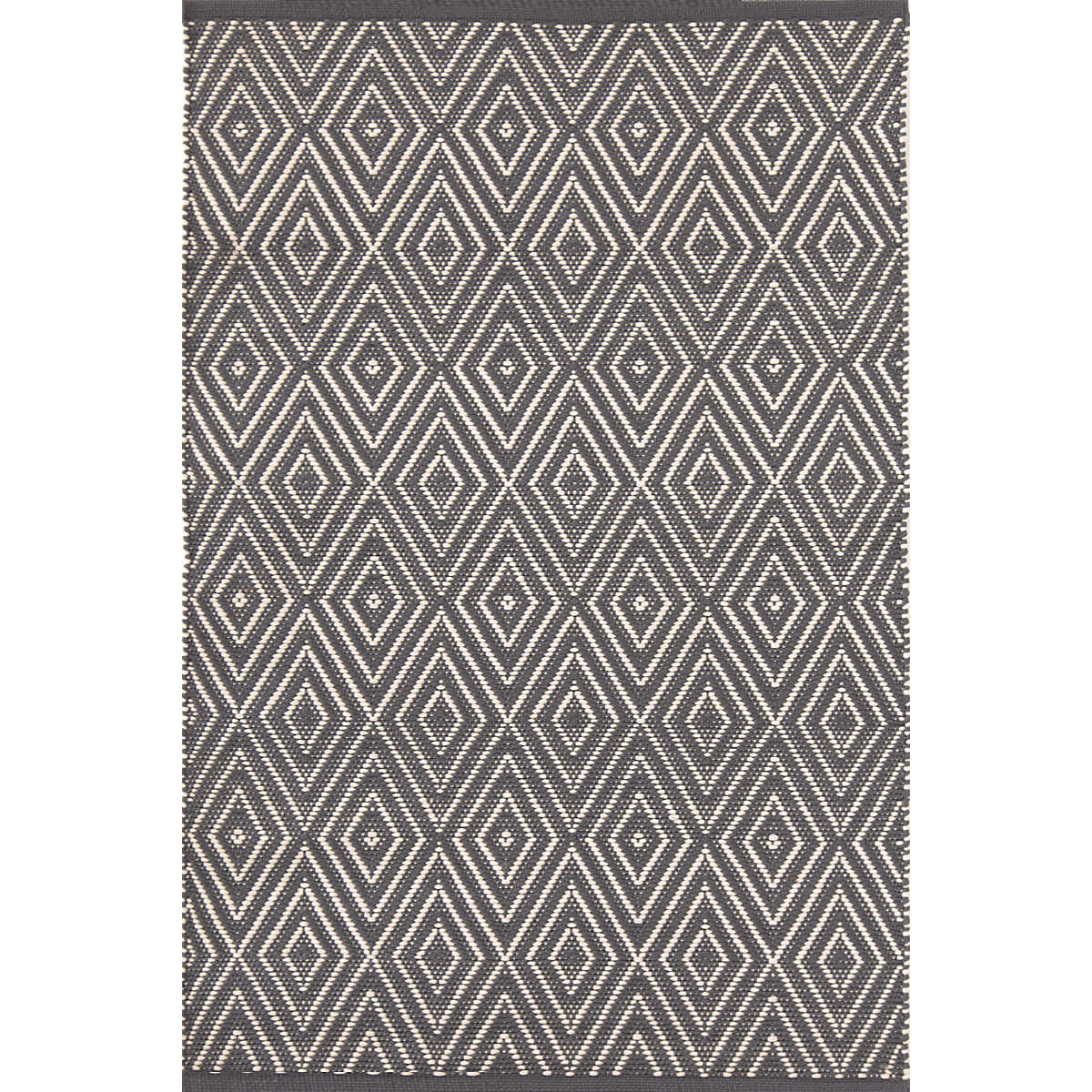 Diamond Graphite/Ivory Indoor/Outdoor Rug | Dash & Albert