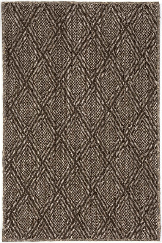Diamond Greige Woven Sisal Custom Rug With Pad
