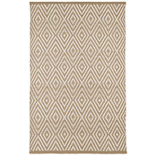 Diamond Khaki/White Indoor/Outdoor Rug