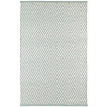 Diamond Light Blue/Ivory Indoor/Outdoor Rug