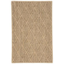 Diamond Natural Woven Sisal Custom Rug With Pad