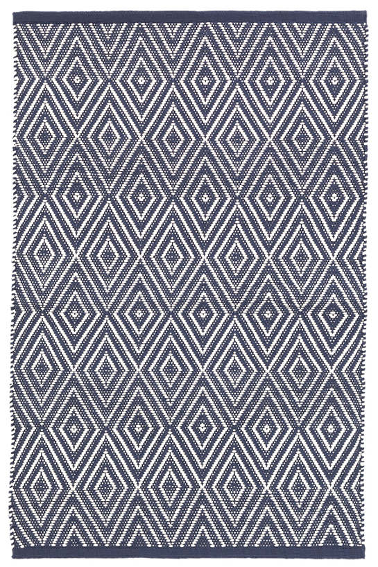 Diamond Navy/Ivory Indoor/Outdoor Rug