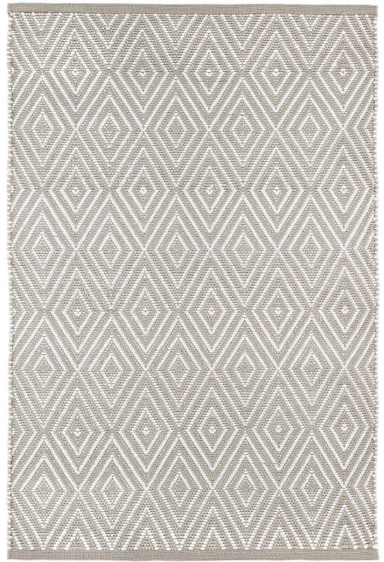 Diamond platinum white indoor outdoor rug dash albert for Dash and albert indoor outdoor rugs