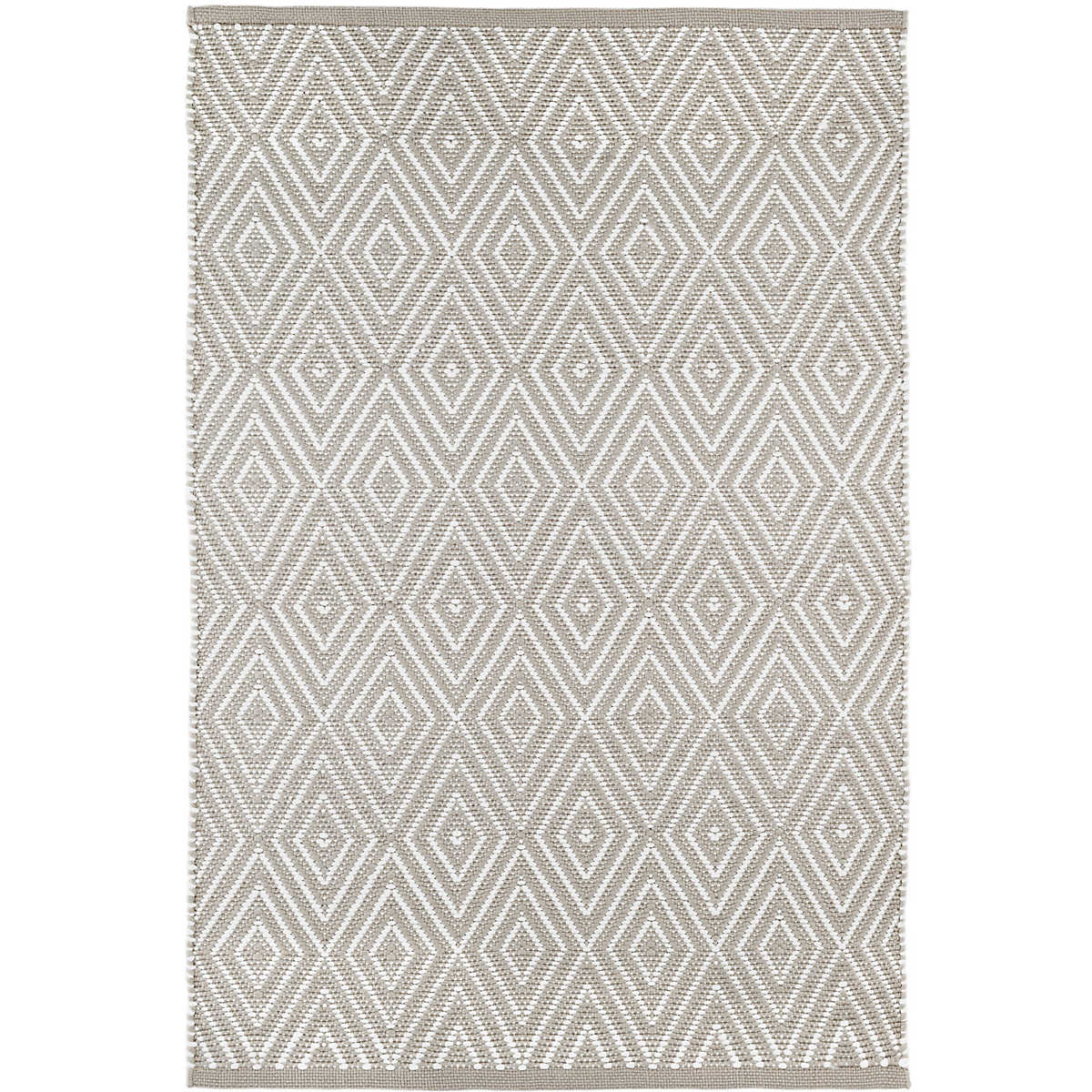Diamond Platinum/White Indoor/Outdoor Rug | Dash & Albert