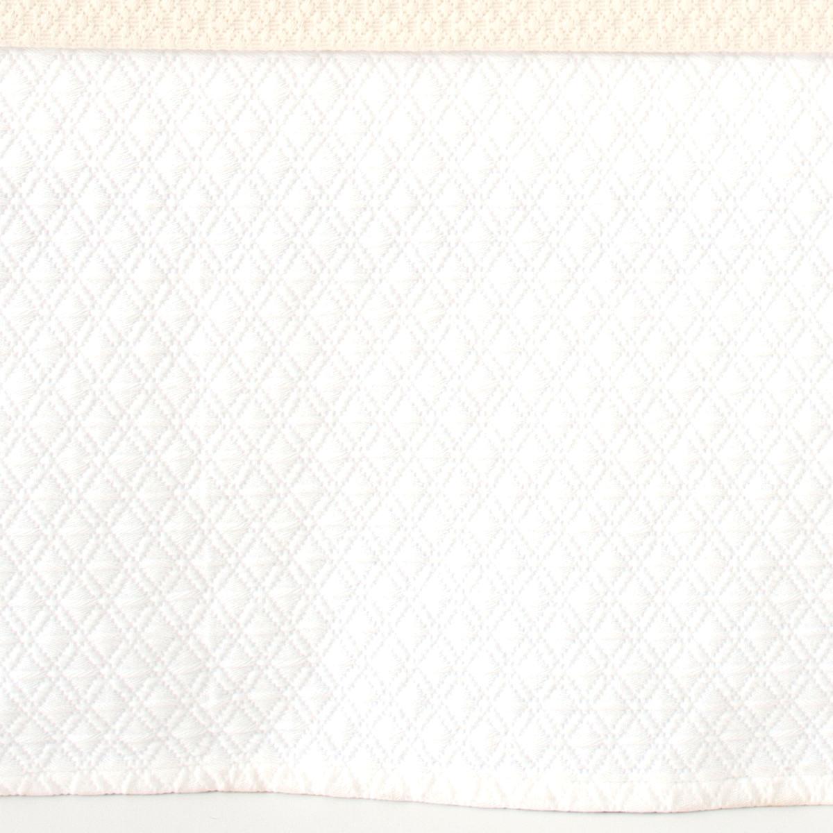 Diamond White Matelassé Bed Skirt