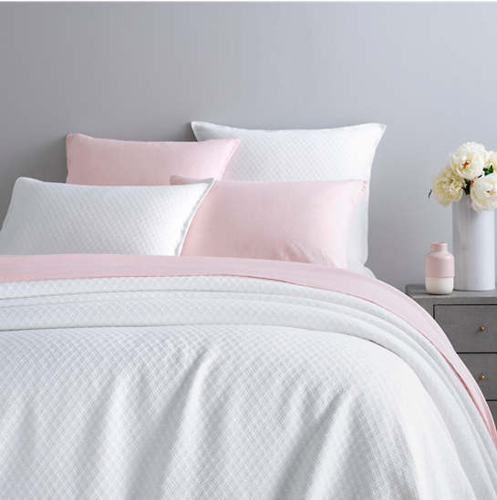 Diamond White Matelassé Coverlet